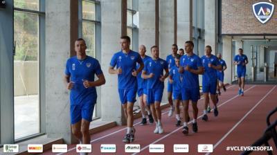 Мъжкият отбор стартира в новата база на клуба